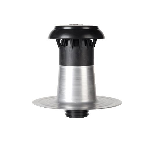 Ventilatierooster Badkamer: Aluminium Plakplaat Dubbelwandig 110-125mm Met Kap